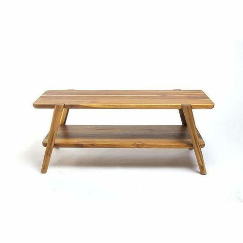 Masaya Apanas Coffee Table-Coffee/Cocktail Tables-Masaya & Co.-Teak-Heaven's Gate Home, LLC
