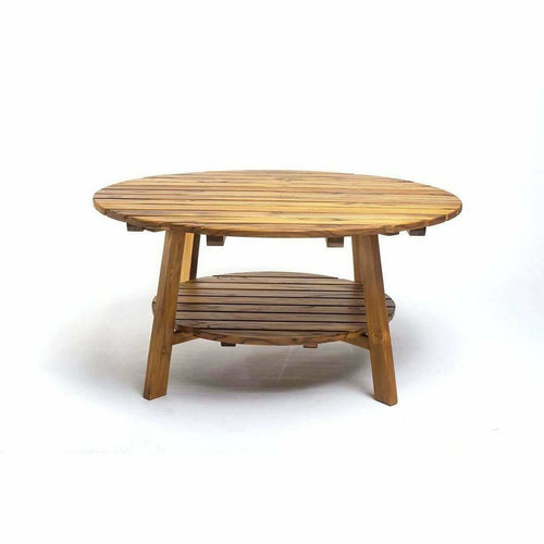 Masaya Adirondack Conversation Table - Teak, Indoor/Outdoor-Coffee/Cocktail Tables-Masaya & Co.-Heaven's Gate Home, LLC