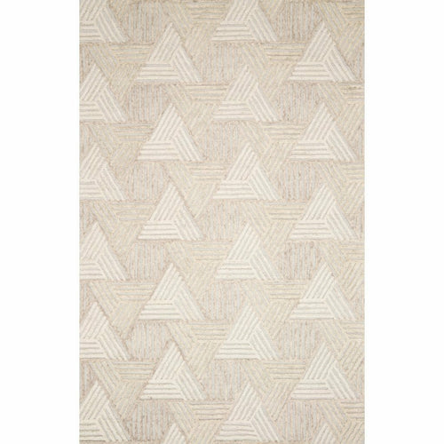 "Loloi Ehren EHR-04 Contemporary Hand Tufted Area Rug-Rugs-Loloi-Ivory-1'-6"" x 1'-6"" Sample-Heaven's Gate Home, LLC"