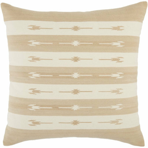 "Jaipur Living Vanda Emani Taupe Handmade Pillow-Pillows-Jaipur Living-Taupe-22"" x 22""-Down-Heaven's Gate Home, LLC"