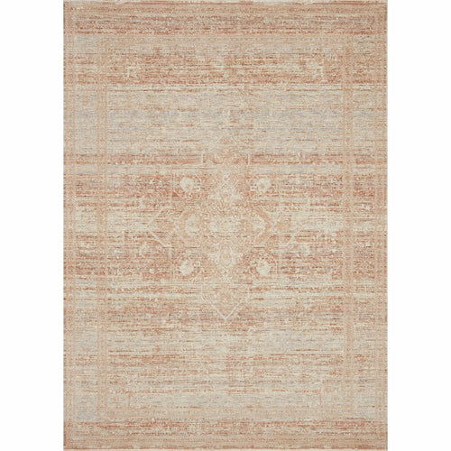 "Loloi Faye FAY-08 Transitional Power Loomed Area Rug-Rugs-Loloi-Terracotta-18"" x 18"" Sample-Heaven's Gate Home, LLC"
