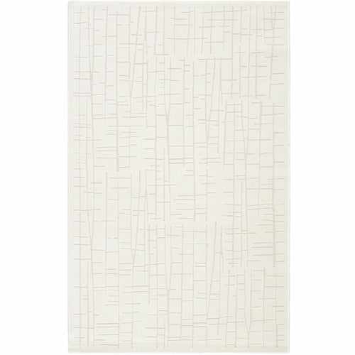 "Jaipur Living Fables Palmer FB159 Modern Machine Made Area Rug-Rugs-Jaipur Living-White-5'X7'6""-Heaven's Gate Home, LLC"