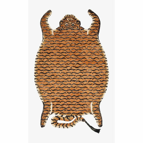 "Justina Blakeney x Loloi Feroz FER-05 Contemporary Hooked Area Rug-Rugs-Justina Blakeney x Loloi-Rust-4'-0"" x 6'-0""-Heaven's Gate Home, LLC"