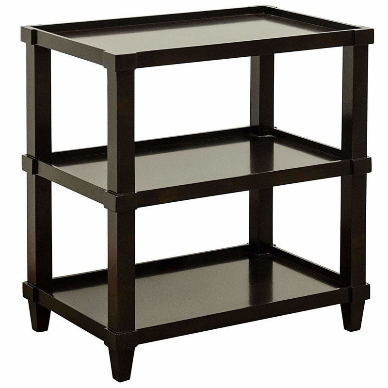 CFC Carlsbad Straight Side Table, Alder, Espresso *Quick Ship*-Side Tables-CFC-Heaven's Gate Home