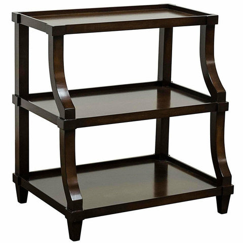 CFC Carlsbad Side Table, Alder, Espresso *Quick Ship*-Side Tables-CFC-Heaven's Gate Home