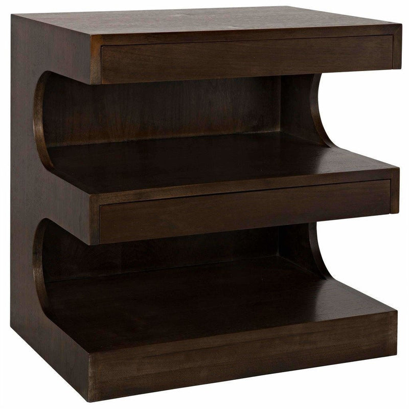 CFC Radcliff Side Table, Walnut, Light Shellac *Quick Ship*-Side Tables-CFC-Heaven's Gate Home
