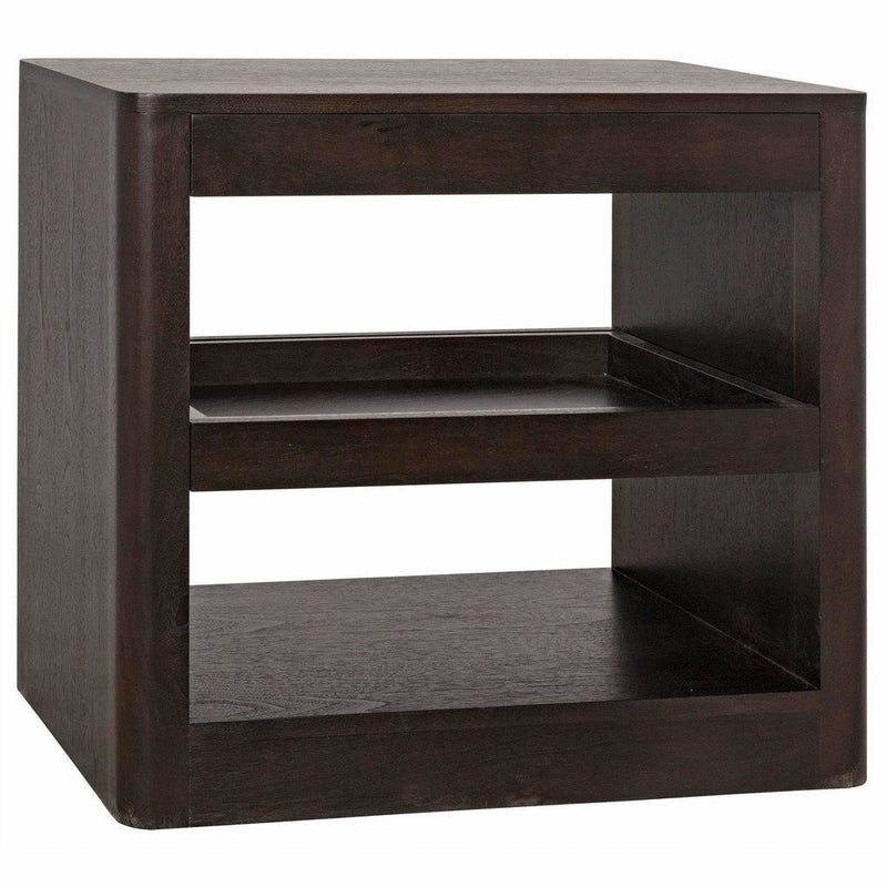 CFC Mayito Side Table, Walnut, Dark Shellac *Quick Ship*-Side Tables-CFC-Heaven's Gate Home
