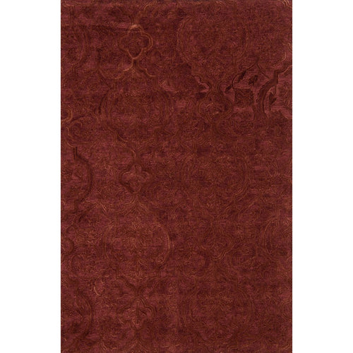 "Loloi Filigree FI-01 Traditional Hand Tufted Area Rug-Rugs-Loloi-Rust-1'-6"" x 1'-6"" Sample-Heaven's Gate Home, LLC"