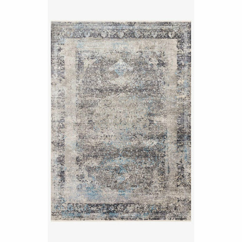 "Loloi Franca FRN-03 Transitional Power Loomed Area Rug-Rugs-Loloi-Charcoal-1'-6"" x 1'-6"" Sample-Heaven's Gate Home, LLC"