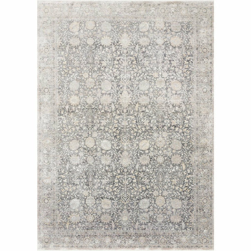 "Loloi Gemma GEM-02 Traditional Power Loomed Area Rug-Rugs-Loloi-Charcoal-1'-6"" x 1'-6"" Sample-Heaven's Gate Home, LLC"