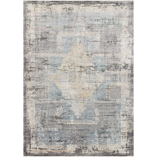"Loloi Gemma GEM-04 Traditional Power Loomed Area Rug-Rugs-Loloi-Charcoal-1'-6"" x 1'-6"" Sample-Heaven's Gate Home, LLC"