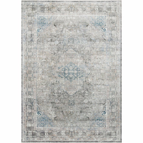 "Loloi Gemma GEM-05 Traditional Power Loomed Area Rug-Rugs-Loloi-Silver-1'-6"" x 1'-6"" Sample-Heaven's Gate Home, LLC"