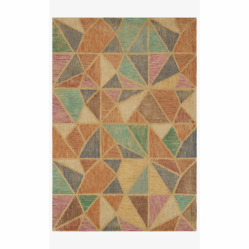 "Justina Blakeney x Loloi Gemology GQ-01 Contemporary Hand Tufted Area Rug-Rugs-Justina Blakeney x Loloi-Rust-1'-6"" x 1'-6""-Heaven's Gate Home, LLC"