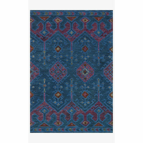 "Justina Blakeney x Loloi Gemology GQ-02 Contemporary Hand Tufted Area Rug-Rugs-Justina Blakeney x Loloi-Blue-1'-6"" x 1'-6""-Heaven's Gate Home, LLC"