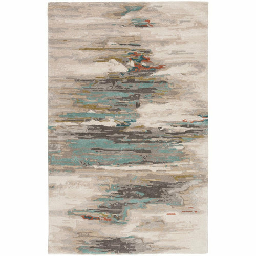 Jaipur Living Genesis Ryenn GES06 Contemporary Handmade Area Rug-Rugs-Jaipur Living-Gray-2'X3'-Heaven's Gate Home, LLC
