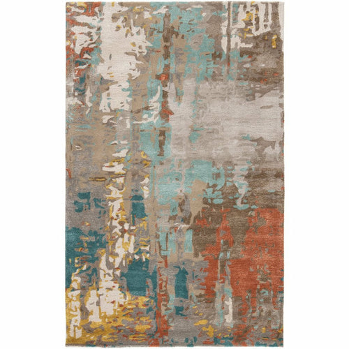 Jaipur Living Genesis Matcha GES08 Contemporary Handmade Area Rug-Rugs-Jaipur Living-Multi-2'X3'-Heaven's Gate Home, LLC