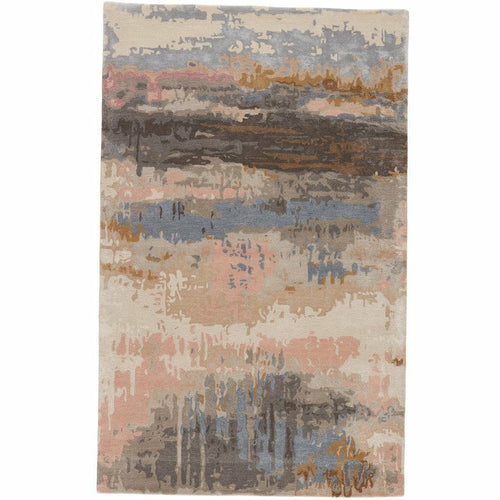 Jaipur Living Genesis Benna GES17 Contemporary Handmade Area Rug-Rugs-Jaipur Living-Blush-5'X8'-Heaven's Gate Home, LLC