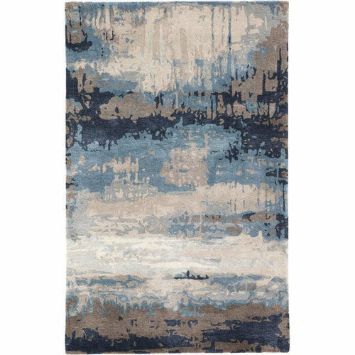 Jaipur Living Genesis Benna GES18 Contemporary Handmade Area Rug-Rugs-Jaipur Living-Blue-5'X8'-Heaven's Gate Home, LLC