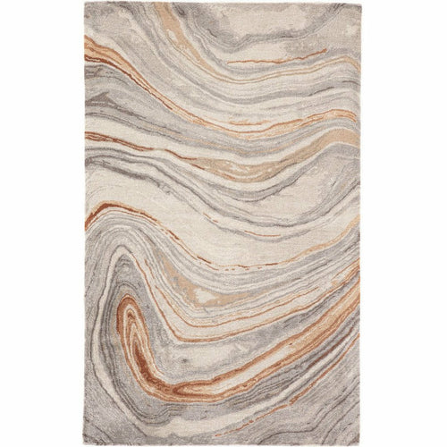 Jaipur Living Genesis Atha GES21 Contemporary Handmade Area Rug-Rugs-Jaipur Living-Rust-5'X8'-Heaven's Gate Home, LLC