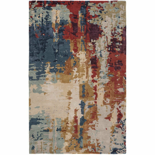 Jaipur Living Genesis Matcha GES45 Contemporary Handmade Area Rug-Rugs-Jaipur Living-Multi-2'X3'-Heaven's Gate Home, LLC