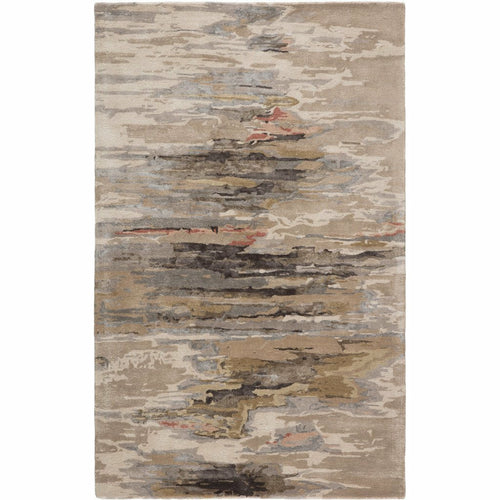 Jaipur Living Genesis Ryenn GES48 Contemporary Handmade Area Rug-Rugs-Jaipur Living-Taupe-2'X3'-Heaven's Gate Home, LLC