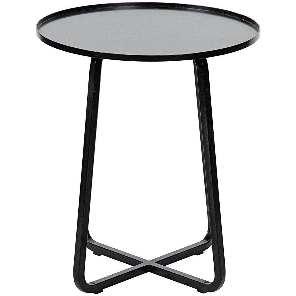 Noir Kimana Side Table, Metal - Heaven's Gate Home & Garden