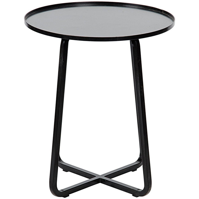 Noir Kimana Side Table, Black Metal-Side Tables-Noir Furniture-Heaven's Gate Home