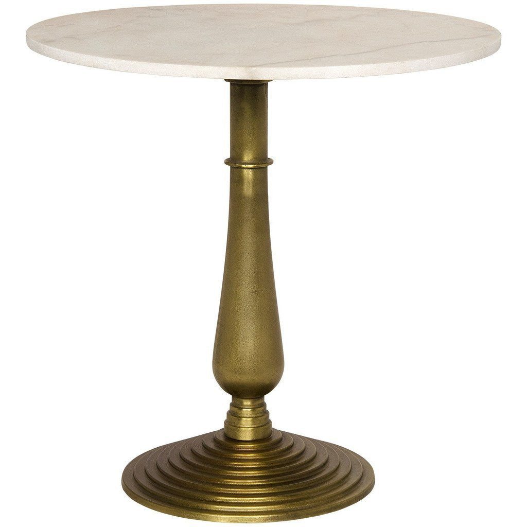 Noir Alida Side Table, Cast Iron & Quartz, Gold Finish-Side Tables-Noir Furniture-Heaven's Gate Home