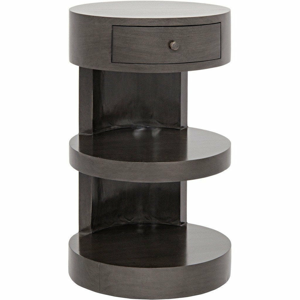 "Noir Ryoko Side/End Table, 16"" Pale, Mahogany-Side Tables-Noir Furniture-Heaven's Gate Home"