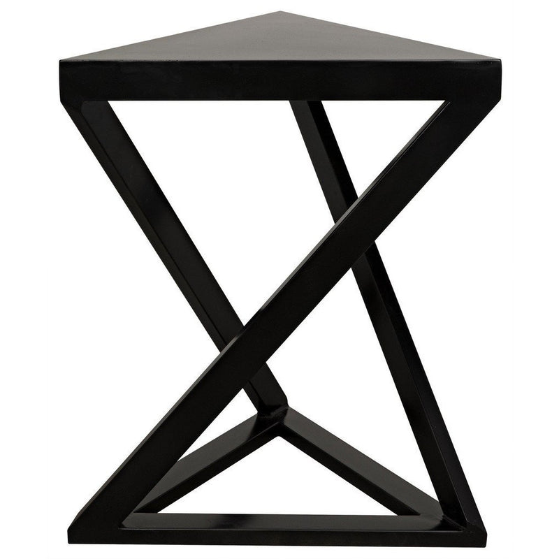 Noir Orpheo Side Table, Black Metal-Side Tables-Noir Furniture-Heaven's Gate Home