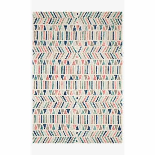 "Justina Blakeney x Loloi Hallu HAL-01 Contemporary Hooked Area Rug-Rugs-Justina Blakeney x Loloi-Multi-1'-6"" x 1'-6""-Heaven's Gate Home, LLC"