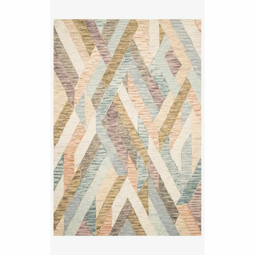 "Justina Blakeney x Loloi Hallu HAL-03 Contemporary Hooked Area Rug-Rugs-Justina Blakeney x Loloi-Multi-1'-6"" x 1'-6""-Heaven's Gate Home, LLC"