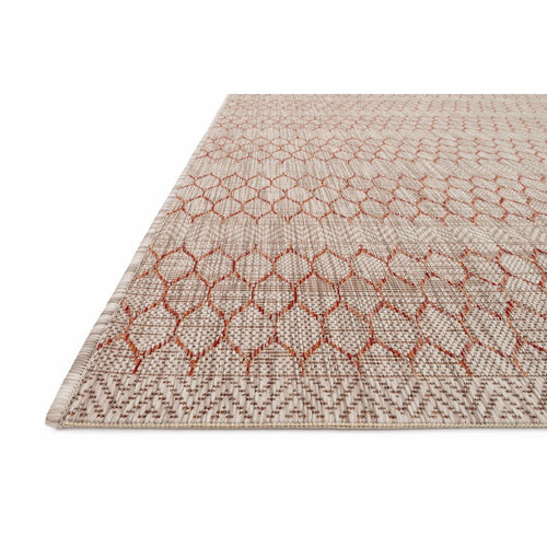 "Loloi Isle IE-01 Indoor/Outdoor Power Loomed Area Rug-Rugs-Loloi-Rust-1'-6"" x 1'-6"" Sample-Heaven's Gate Home, LLC"