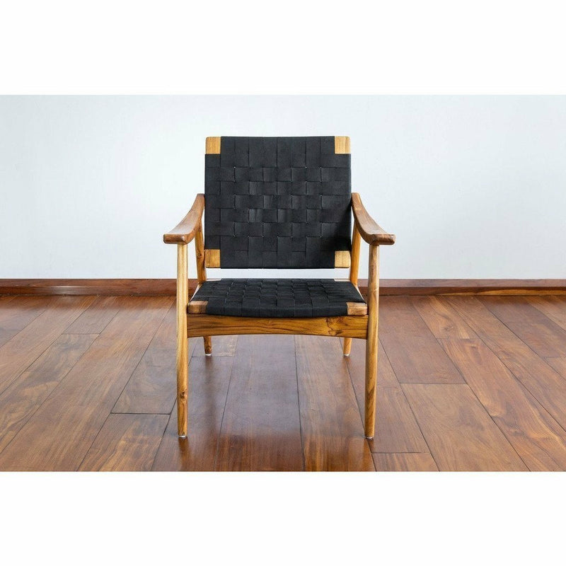 Masaya Izapa Arm Chair, Leather-Lounge Chairs-Masaya & Co.-Heaven's Gate Home, LLC