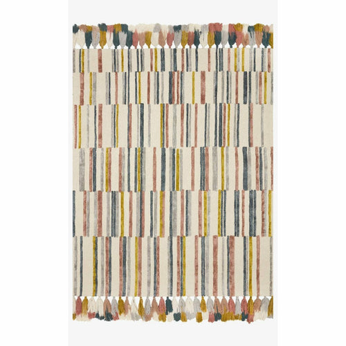 "Justina Blakeney x Loloi Jamila JAA-02 Contemporary Hooked Area Rug-Rugs-Justina Blakeney x Loloi-Multi-18"" x 18""-Heaven's Gate Home, LLC"