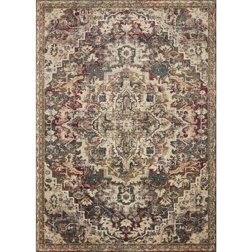 "Loloi Jasmine JAS-03 Contemporary Power Loomed Area Rug-Rugs-Loloi-Multi-18"" x 18"" Sample-Heaven's Gate Home, LLC"