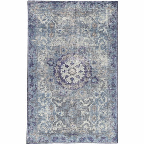 Jaipur Living Kai Modify KAI06 Vintage Handmade Area Rug-Rugs-Jaipur Living-Blue-5'X8'-Heaven's Gate Home, LLC