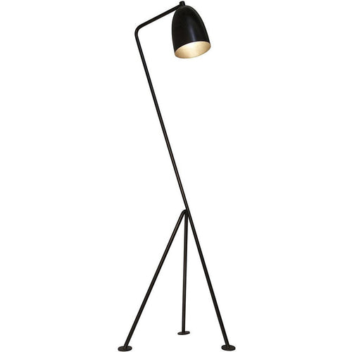 Noir Asti Floor Lamp, Black Metal *Quick Ship*-Floor Lamps-Noir Furniture-Heaven's Gate Home