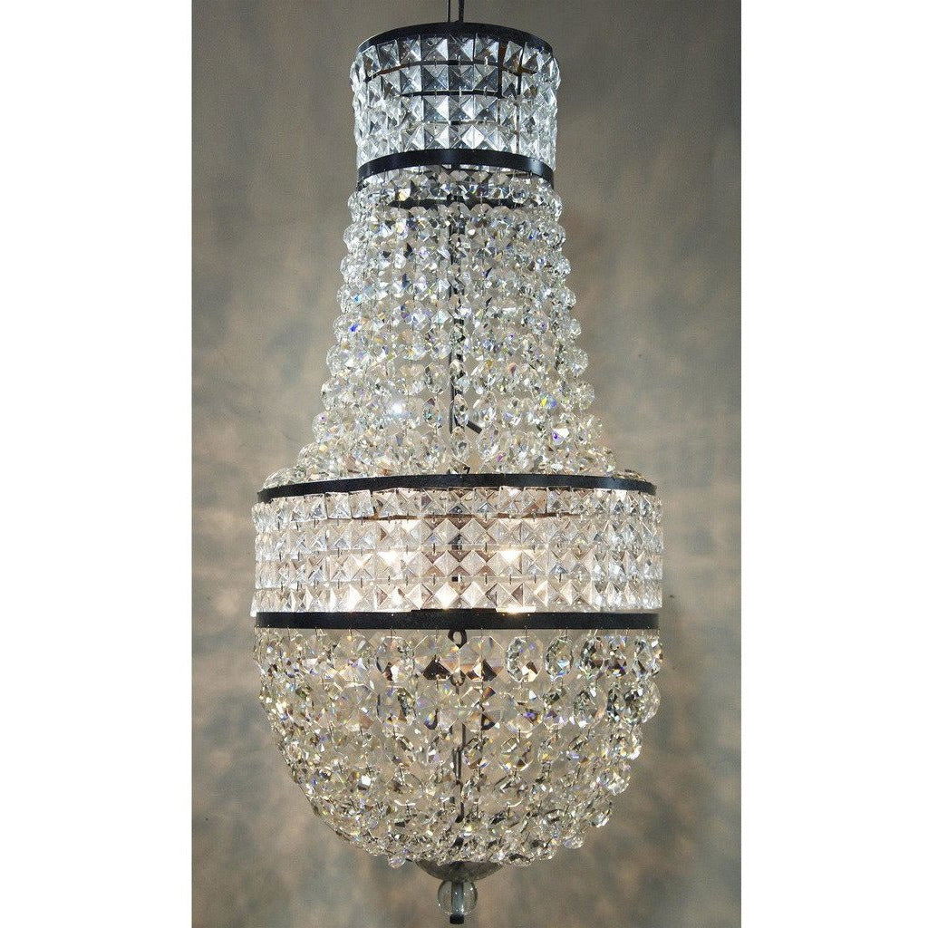 Noir Anna Chandelier, Black Metal-Chandeliers-Noir Furniture-Heaven's Gate Home