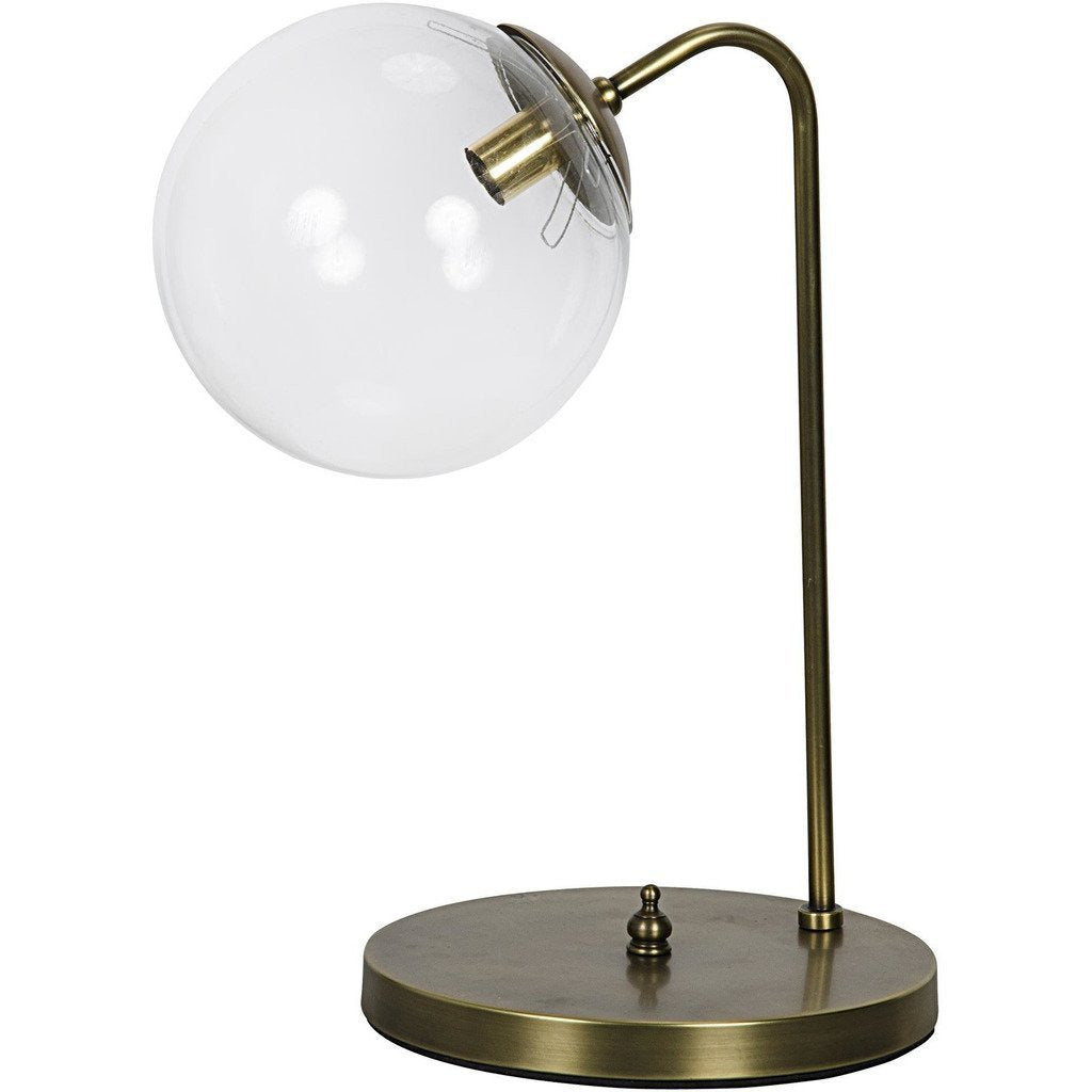 Noir Knick Table Lamp, Antique Brass - Heaven's Gate Home & Garden