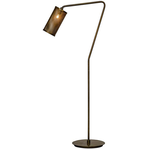 Noir Pisa Floor Lamp, Metal, Antique Brass, 1-Bulb *Quick Ship*-Floor Lamps-Noir Furniture-Heaven's Gate Home