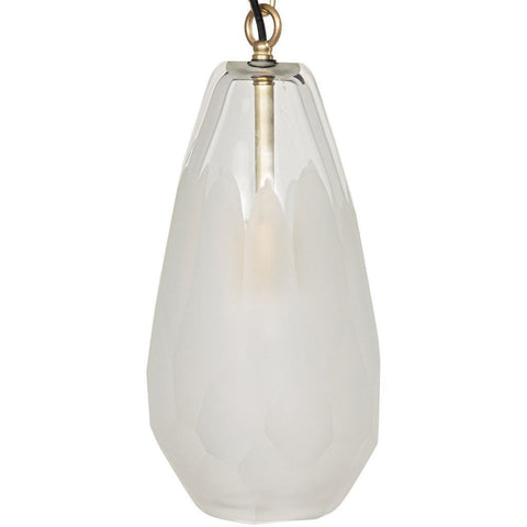 Noir Ice Pendant, Metal and Glass, Antique Brass - Heaven's Gate Home & Garden