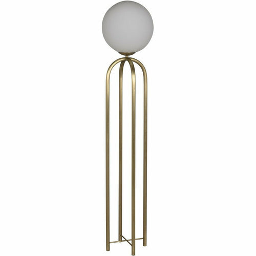 Noir Moriarty Push Button Floor Switch Floor Lamp, Antique Brass-Floor Lamps-Noir Furniture-Heaven's Gate Home
