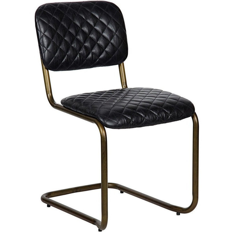 Noir 0037 Dining Side Chair, Metal and Leather-Dining Chairs-Noir Furniture-Heaven's Gate Home