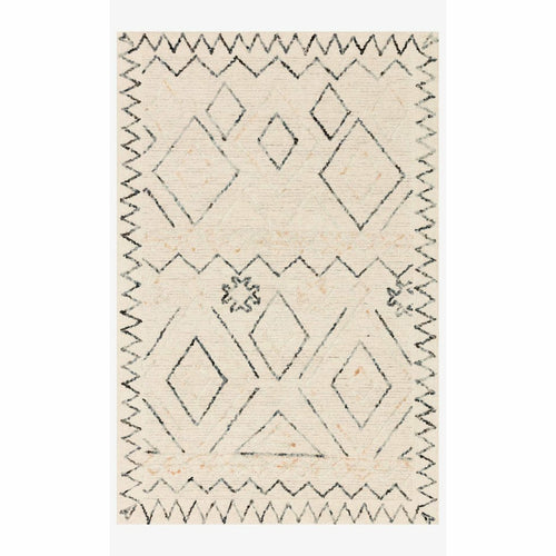 "Justina Blakeney x Loloi Leela LEE-02 Contemporary Hand Tufted Area Rug-Rugs-Justina Blakeney x Loloi-Beige-18"" x 18""-Heaven's Gate Home, LLC"