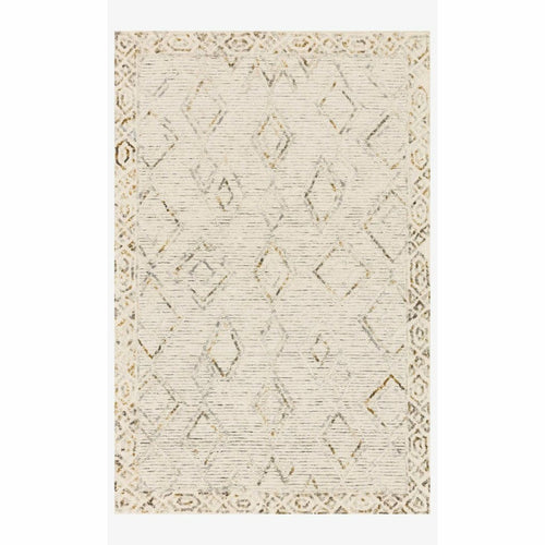 "Justina Blakeney x Loloi Leela LEE-03 Contemporary Hand Tufted Area Rug-Rugs-Justina Blakeney x Loloi-Ivory-18"" x 18""-Heaven's Gate Home, LLC"