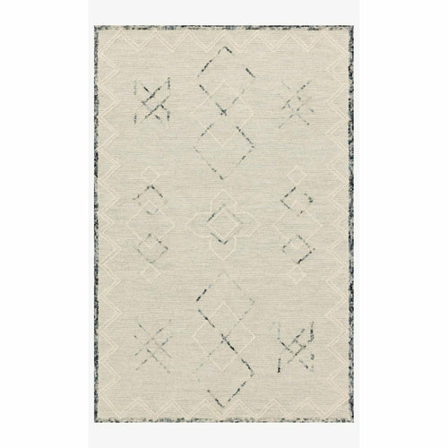 "Justina Blakeney x Loloi Leela LEE-04 Contemporary Hand Tufted Area Rug-Rugs-Justina Blakeney x Loloi-Cream-18"" x 18""-Heaven's Gate Home, LLC"