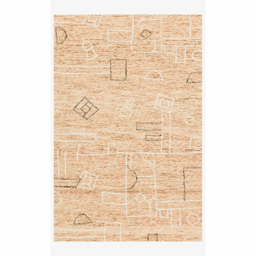 "Justina Blakeney x Loloi Leela LEE-05 Contemporary Hand Tufted Area Rug-Rugs-Justina Blakeney x Loloi-Terracotta-18"" x 18""-Heaven's Gate Home, LLC"