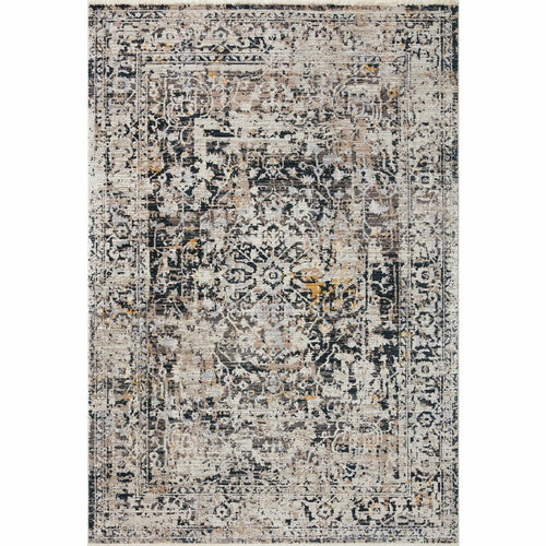 "Loloi Leigh LEI-03 Transitional Power Loomed Area Rug-Rugs-Loloi-Charcoal-18"" x 18"" Sample-Heaven's Gate Home, LLC"