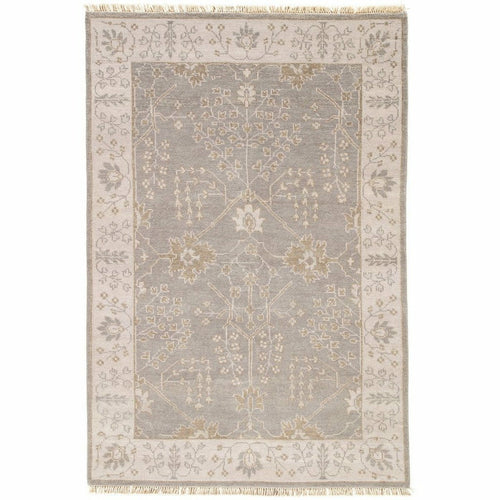 "Jaipur Living Liberty Reagan LIB02 Transitional Handmade Area Rug-Rugs-Jaipur Living-Gray-5'6""X8'-Heaven's Gate Home, LLC"